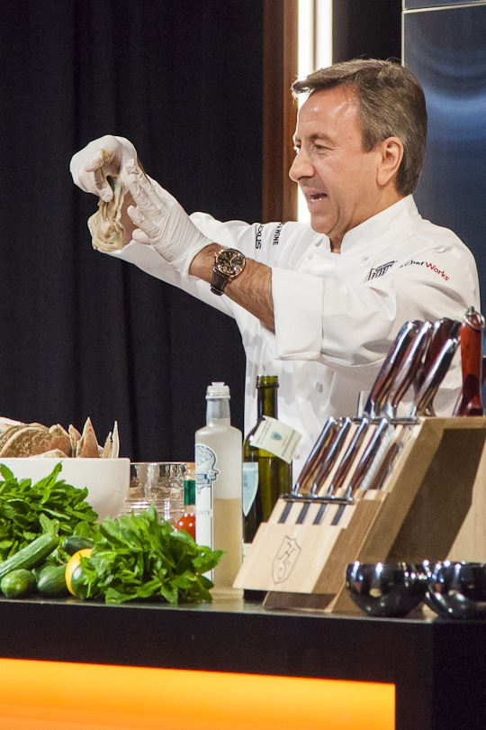 Chef Daniel Boulud at Pebble Beach Food and Wine 2013. Photo by Irvin Lin of Eat the Love. www.eatthelove.com