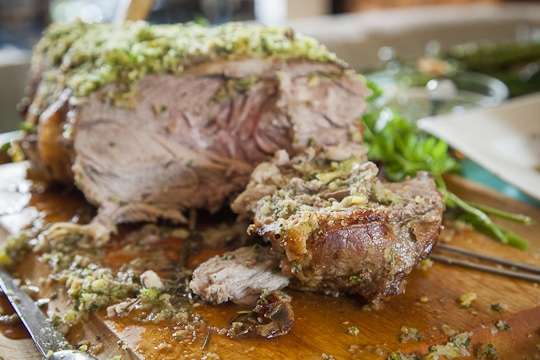 Roasted Lamb for Easter Supper at the Nagami's. Photo by Irvin Lin of Eat the Love. www.eatthelove.com