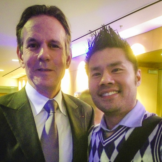 Thomas Keller and Irvin Lin. Photo by Irvin Lin of Eat the Love. www.eatthelove.com