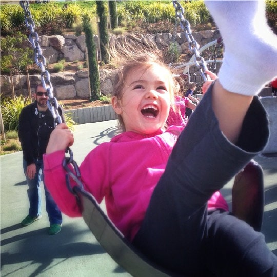 Sydney dominating the swing at Dolores Park. Instagram by Irvin Lin of Eat the Love. www.eatthelove.com