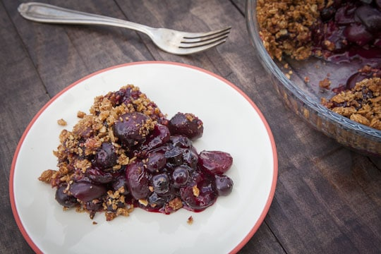 Cherry Blueberry Oat Cookie Crisp Pie by Irvin Lin of Eat the Love. www.eatthelove.com