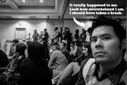 I totally got overwhelmed at a blogging conference. I should have taken a break. By Irvin Lin of Eat the Love. www.eatthelove.com