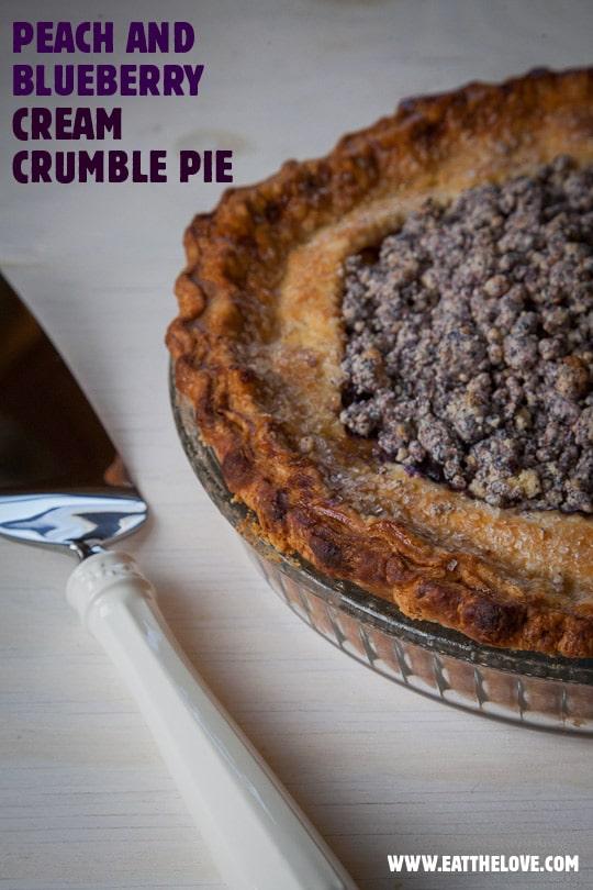 Peach & Blueberry Cream Crumble Pie and the 18 Reasons DIY Dessert Pie Event!