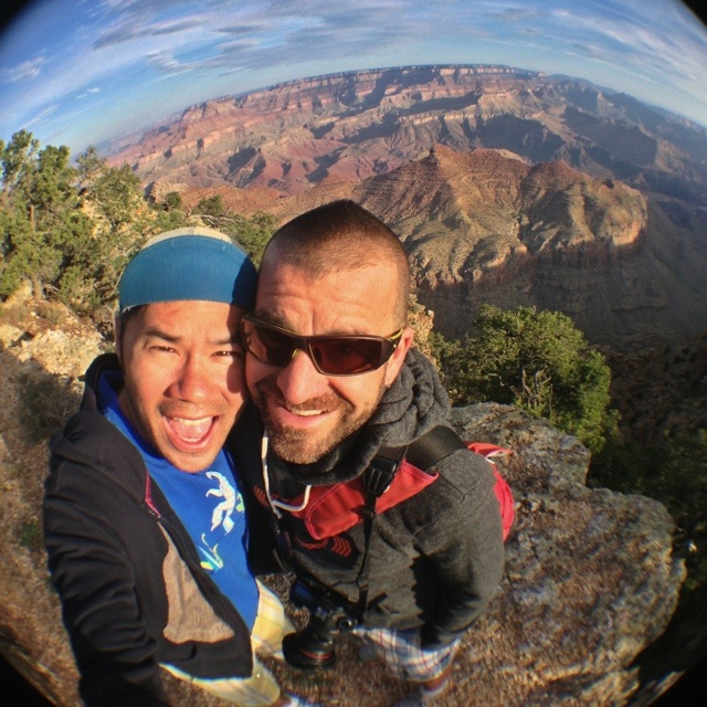 AJ and Irvin at the Grand Canyon. Photo by Irvin Lin of Eat the Love. www.eatthelove.com