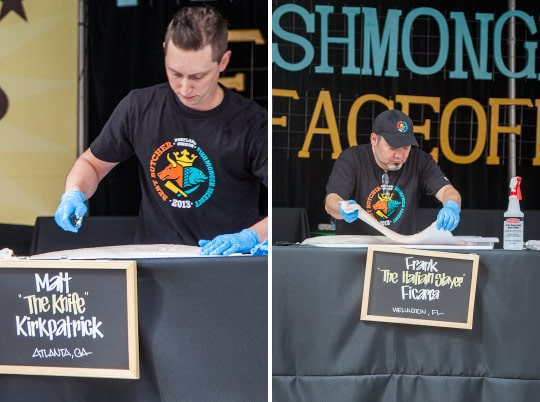 Feast Portland, Fishmonger Faceoff. Photo by Irvin Lin of Eat the Love. www.eatthelove.com