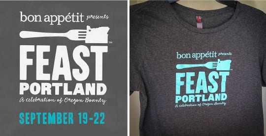 Feast Portland t-shirt. Photo by Irvin Lin of Eat the Love. | www.eatthelove.com