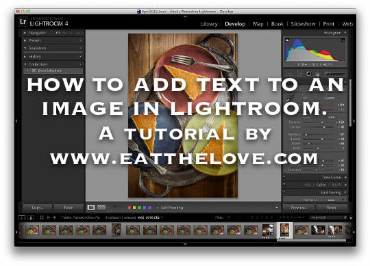 Lightroom Tutorial for text on photos