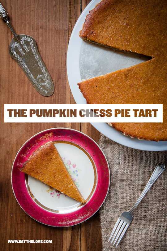 Pumpkin Chess Pie Tart by Irvin Lin of Eat the Love. | www.eatthelove.com
