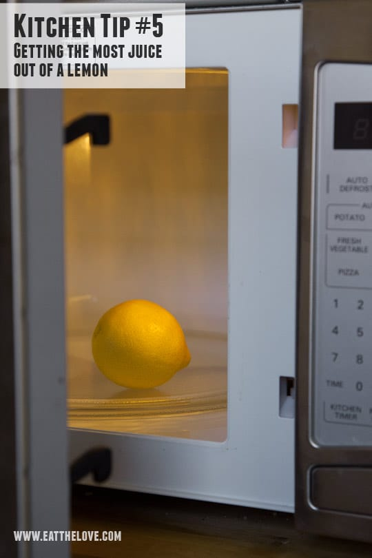 Kitchen Tip #5 – How to Juice a Lemon
