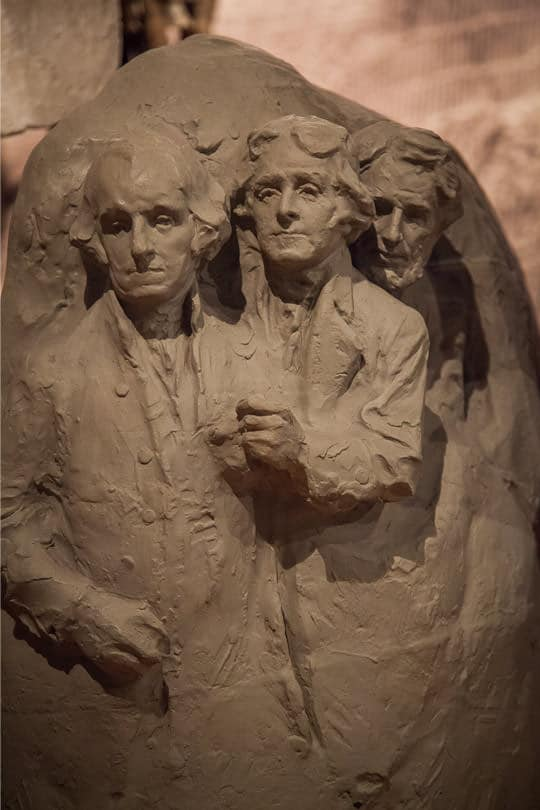 Clay sculpture study for Mount Rushmore National Monument. Photo by Irvin Lin of Eat the Love. | www.eatthelove.com