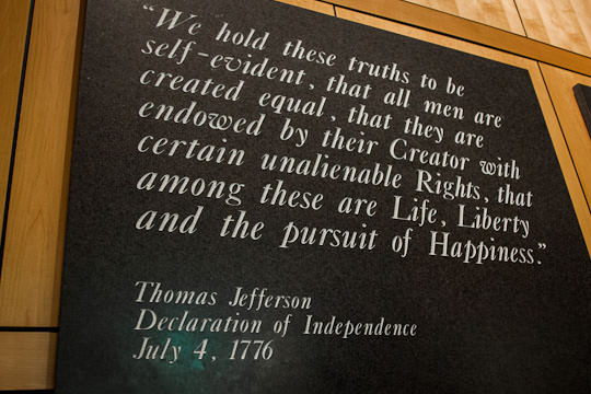 Thomas Jefferson Plaque Quote at Mount Rushmore National Monument. Photo by Irvin Lin of Eat the Love. | www.eatthelove.com