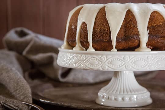 Pumpkin Bundt Cake with Brown Butter and Bay Leaf. By Irvin Lin of Eat the Love. | www.eatthelove.com | #pumpkin #bundtcake #cake #thankgiving