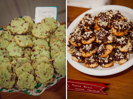 Pistachio Cranberry cookies and Tonga Room Coconut Truffles. Photo by Irvin Lin of Eat the Love. www.eatthelove.com