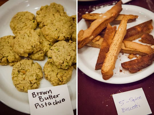 Brown Butter Pistachio cookies and Five Spice Biscotti. Photo by Irvin Lin of Eat the Love. www.eatthelove.com