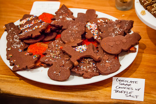 Chocolate sugar cookies with truffle salt. Photo by Irvin Lin of Eat the Love. www.eatthelove.com