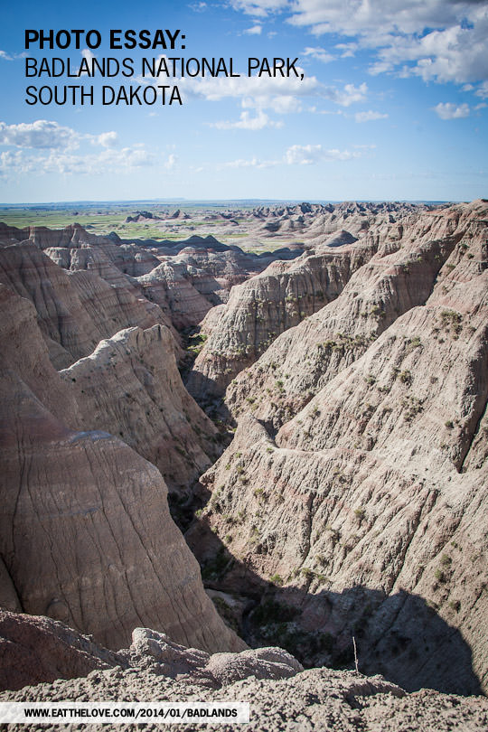 Badlands National Park in South Dakota. Photo by Irvin Lin of Eat the Love. www.eatthelove.com