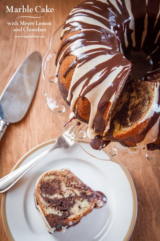 Marble Cake Recipe, with Meyer Lemon and Chocolate AND a Major Announcement!