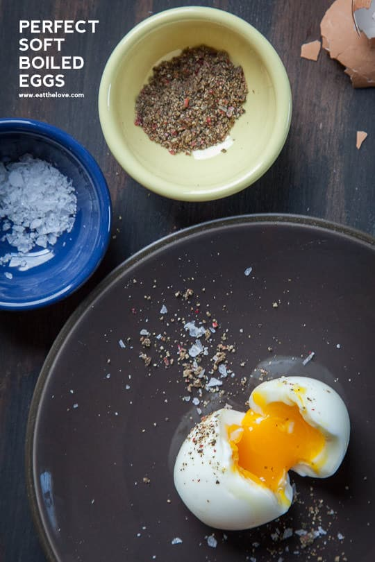 Perfect Soft Boiled Egg. Recipe and Photo by Irvin Lin of Eat the Love. www.eatthelove.com