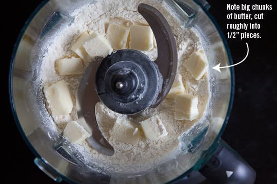 Note the big chunky pieces of butter in the dry ingredients. Photo and recipe by Irvin Lin of Eat the Love. www.eatthelove.com