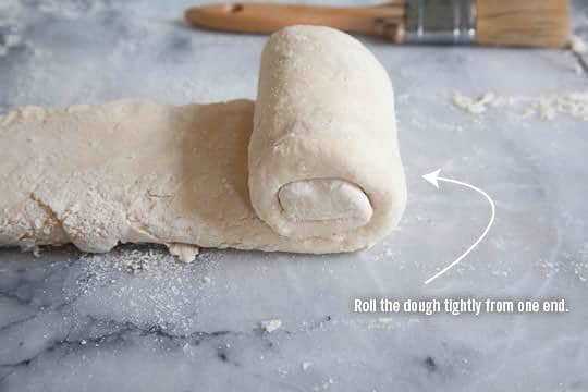 Roll the dough up by the side. Photo and recipe by Irvin Lin of Eat the Love. www.eatthelove.com