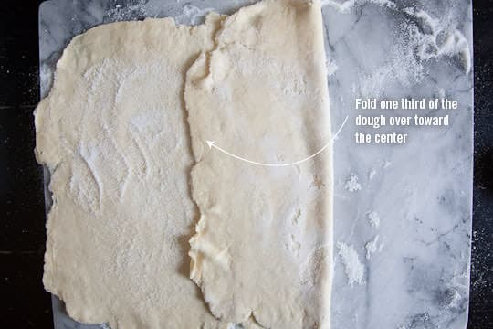 Fold 1/3rd of the dough into the middle. Photo and recipe by Irvin Lin of Eat the Love. www.eatthelove.com