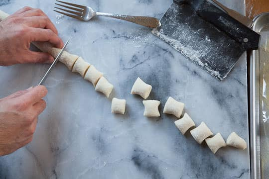 Slice the rope into 3/4-inch long gnocchi. Photo and recipe by Irvin Lin of Eat the Love. www.eatthelove.com