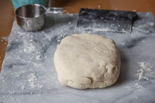 The final dough ball, gather into a disk. Photo by Irvin Lin of Eat the Love. www.eatthelove.com