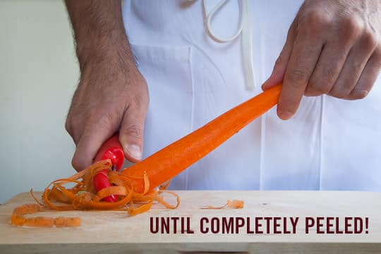 Until your carrot is completely peeled! Photo by Irvin Lin of Eat the Love. www.eatthelove.com