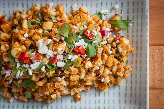 Esquites, a Mexican Corn Salad recipe. Easy and made from scratch by Irvin Lin of Eat the Love. www.eatthelove.com