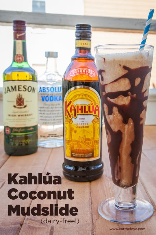 #Ad Kahlua Coconut Mudslide, a dairy-free recipe. Photo and recipe by Irvin Lin of Eat the Love