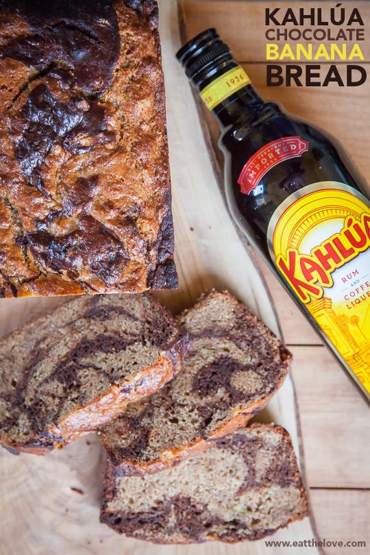#ad | Moist and delicious Kahlua Mocha Marbled Banana Bread by Irvin Lin of Eat the Love. #KahluaSummer