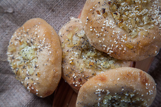 Bialys, not a bagel but something better. Photo and recipe by Irvin Lin of Eat the Love.