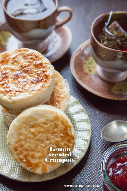 Crumpet Recipe with Lemon. Recipe and Photo by Irvin Lin of Eat the Love.