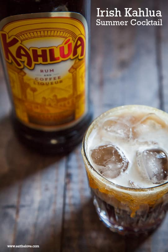 Irish Kahlua Summer Cocktail by Irvin Lin of Eat the Love.