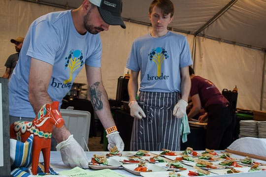 Prepping sandwiches at Feast Portland 2014. Photo by Irvin Lin of Eat the Love.