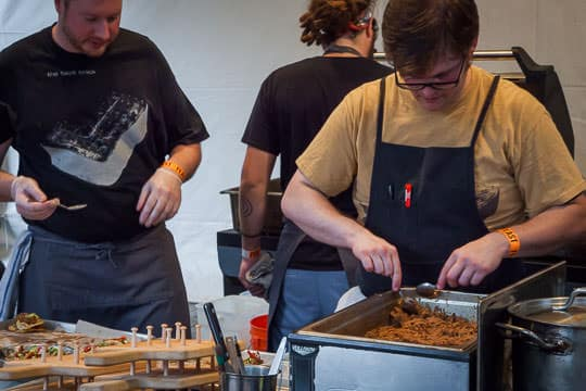 Prepping food for Feast Portland. Photo by Irvin Lin of Eat the Love.