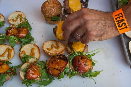 Prepping the Smokey Pork Burger from Lardo. Photo by Irvin Lin of Eat the Love.