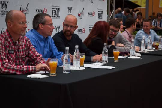 Judges at the Sandwich Invitational, Feast Portland. Photo by Irvin Lin of Eat the Love.