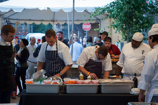 Prepping the food for the Sandwich Invitational at Feast Portland. Photo by Irvin Lin of Eat the Love.