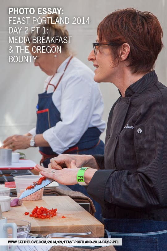 Photo Essay of Feast Portland Day 2, part 1. Photo of Jenn Louis of Lincoln restaurant by Irvin Lin of Eat the Love.
