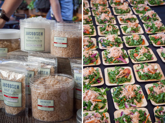 Jacobsen salt and kale salad at Feast Portland's Oregon Bounty. Photos by Irvin Lin of Eat the Love.