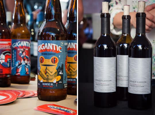 Beer and wine at Oregon Bounty. Photo by Irvin Lin of Eat the Love.