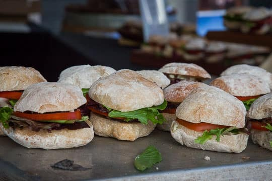 Lamb BLT sandwiches at Feast Portland. Photo by Irvin Lin of Eat the Love.