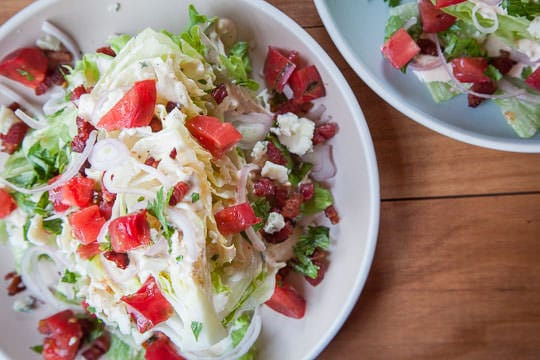 Iceberg wedge salad by Irvin Lin of Eat the Love.