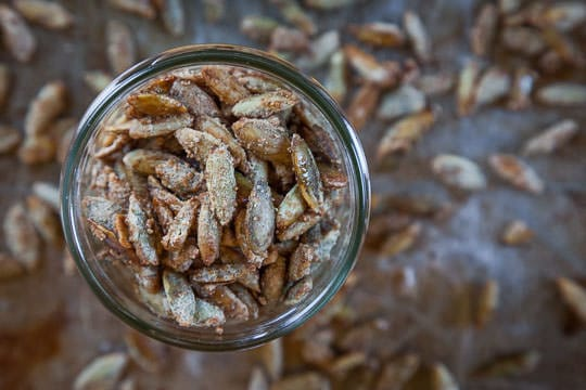 Spiced Pumpkin Seeds. Recipe and Photo by Irvin Lin of Eat the Love.