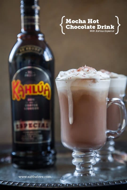 Mocha Hot Chocolate Recipe with Kahlúa Especial [Sponsored Post]