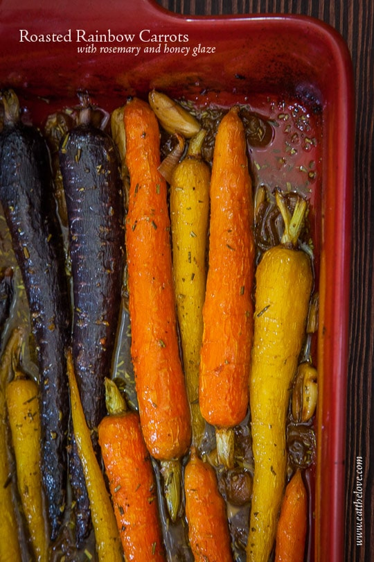 Rosemary Honey Orange Glazed Roasted Rainbow Carrots [Sponsored Post]