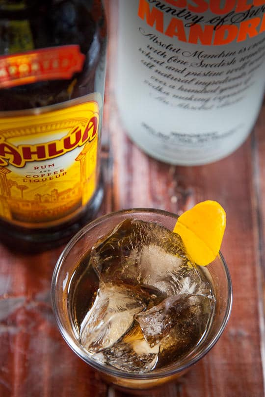 Black Russian Cocktail with Orange. Photo by Irvin Lin of Eat the Love.