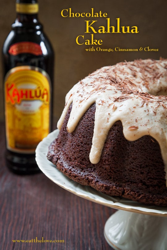 Chocolate Kahlua Cake with Orange, Cinnamon and Cloves [Sponsored Post]