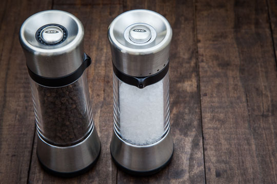 OXO Lua Salt and Pepper Mill Set. Photo by Irvin Lin of Eat the Love